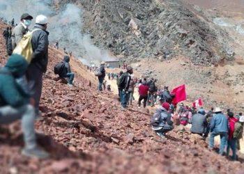 Diferentes noticias falsas han circulado en las redes sociales respecto a la toma del campamento minero.